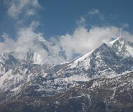 jomsom cloudy mountains
